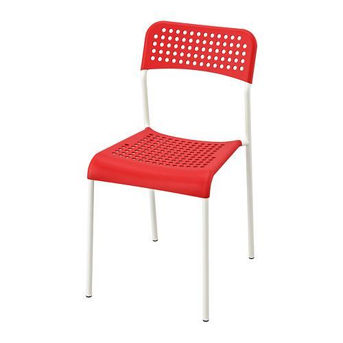 ADDE стул красный/белый