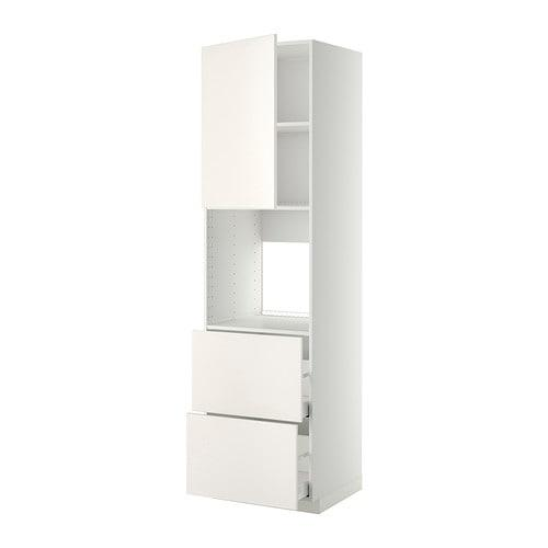 MÉTHODE / sem d MAKSIMERA Hauteur / dhvk + tiroirs DDA / 2frnt / 2vys - mariage blanc blanc, 60x60x220 cm