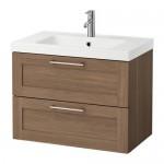 ODENSVIK / GODMORGON Waschbeckenschrank mit 2-Schublade für Nussbaum 83x49X64 cm