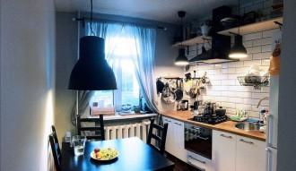 Небольшая уютная кухня - практически все из ИКЕА фото