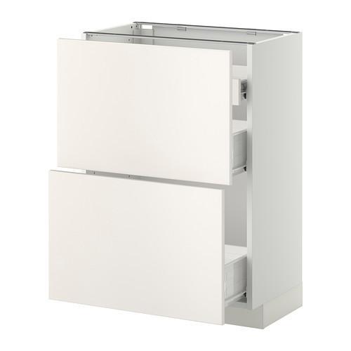 VERFAHREN / FORVARA Nap Schrank 2 FRNT PNL / 1nizk / 2sr Schubladen - weiß, weiß Hochzeit, 60x37 cm