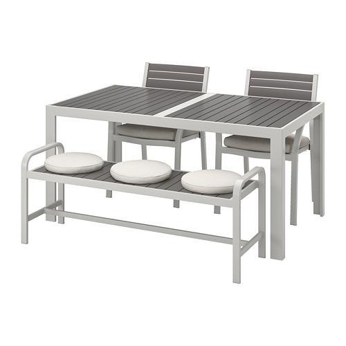 SJÄLLAND Tisch + 2Tool + Bank, Garten
