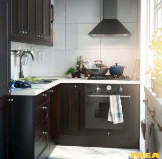 Интерьер очень маленькой кухни