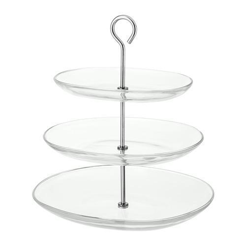 Peanya de servir KVITTERA, vidre transparent de grau 3 / acer inoxidable