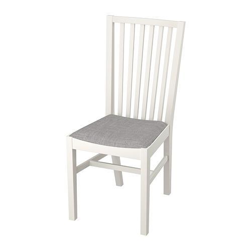 NORRNÄS stol vit Isunda grå