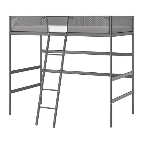 Letto A Castello Ikea Opinioni.Tuffing Struttura Letto A Soppalco Grigio Scuro 97x179 Cm 902 994