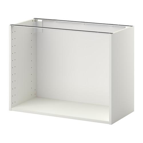 МЕТОД Каркас напольного шкафа - белый, 80x37x60 см