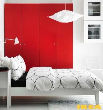 Interior del dormitorio de IKEA