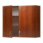 АЛЬБРУ Навесной шкаф с дверями - коричневый