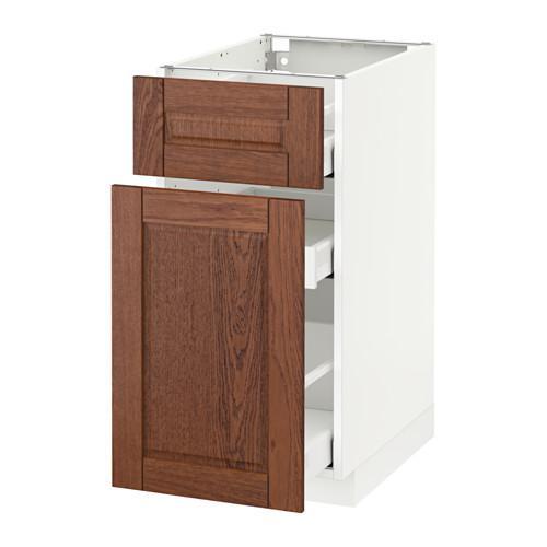 МЕТОД / МАКСИМЕРА Напольн шкаф/выдвижн секц/ящик - 40x60 см, Филипстад коричневый, белый