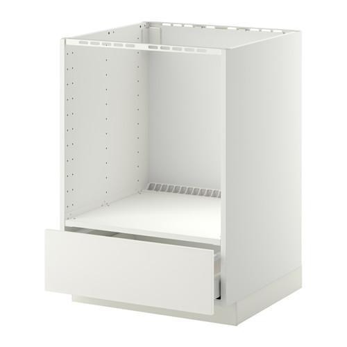 МЕТОД / МАКСИМЕРА Напольный шкаф д/духовки, с ящиком - Хэггеби белый, белый