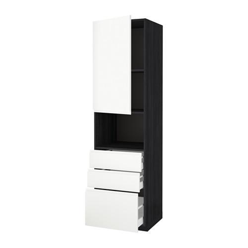Metodo maksimera mobile alto d microonde porta cassetto 3 legno nero bianco vokstorp - Mobile porta microonde ...
