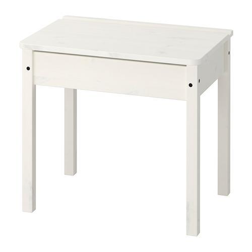 СУНДВИК Стол с отделением для хранения - белый