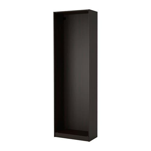 ПАКС Каркас гардероба - черно-коричневый