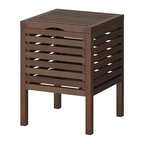 MOLGER Stool-box - dark brown