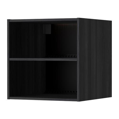 МЕТОД Каркас верхн шкафа на холод/морозил - 60x60x60 см, под дерево черный