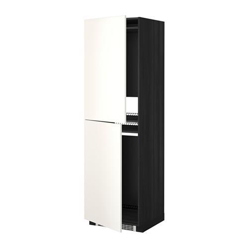МЕТОД Высок шкаф д холодильн/мороз - 60x60x200 см, Веддинге белый, под дерево черный
