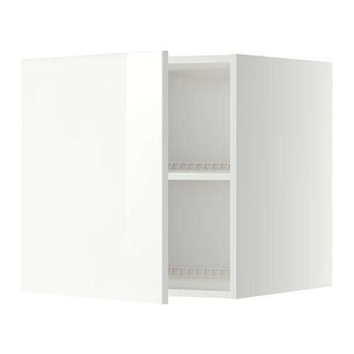 МЕТОД Верх шкаф на холодильн/морозильн - 60x60 см, Рингульт глянцевый белый, белый