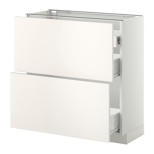 VERFAHREN / FORVARA Nap Schrank 2 FRNT PNL / 1nizk / 2sr Schubladen - weiß, weiß Hochzeit, 80x37 cm