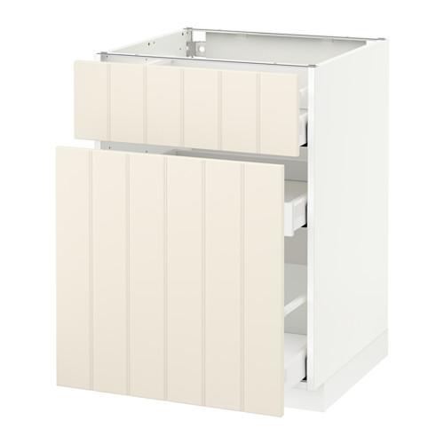 МЕТОД / МАКСИМЕРА Напольн шкаф/выдвижн секц/ящик - 60x60 см, Хитарп белый с оттенком, белый