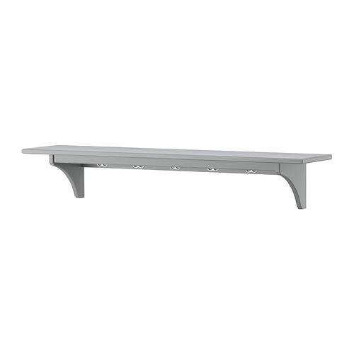 СТЕНСТОРП Полка навесная - серый, 120 см