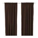Sanel curtains, 2 piece - Dark Brown