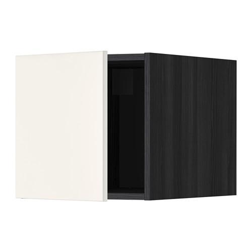 МЕТОД Верхний шкаф - Веддинге белый, под дерево черный