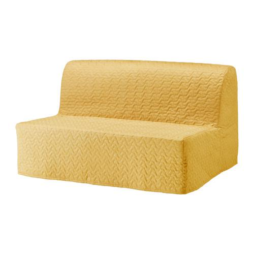 ЛИКСЕЛЕ МУРБО Диван-кровать 2-местный - Валларум желтый, -
