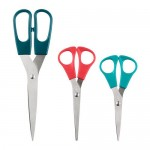 TROJKA scissors, 3 pieces multi-colored
