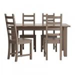 СТУРНЭС/КАУСТБИ Стол и 4 стула - серо-коричневый