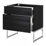 VERFAHREN / wk FORVARA Eine Füllung FRNT 2 / 3 durchschnittliche Kiste - 80x60x60 cm Tingsrid Holz schwarz, Holz schwarz