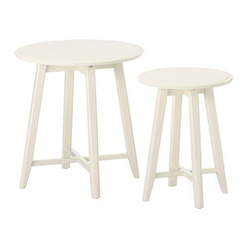 КРАГСТА Комплект столов, 2 шт - белый