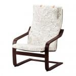 POÄNG кресло коричневый/Висланда черный/белый