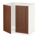 МЕТОД Напольн шкаф д раковины+2 двери - Филипстад коричневый, белый