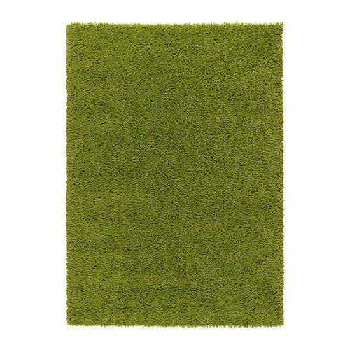 ХАМПЭН Ковер, длинный ворс - ярко-зеленый, 133x195 см