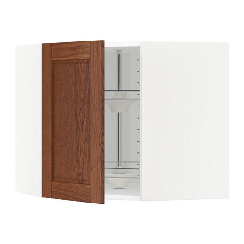 МЕТОД Угл нвсн шкф с вращающ секц - 68x60 см, Филипстад коричневый, белый