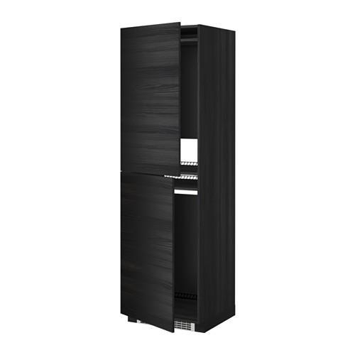 МЕТОД Высок шкаф д холодильн/мороз - 60x60x200 см, Тингсрид под дерево черный, под дерево черный