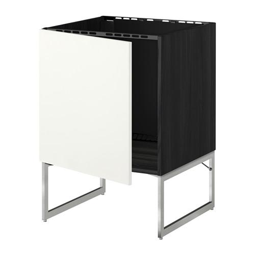 МЕТОД Напольный шкаф для раковины - Хэггеби белый, под дерево черный