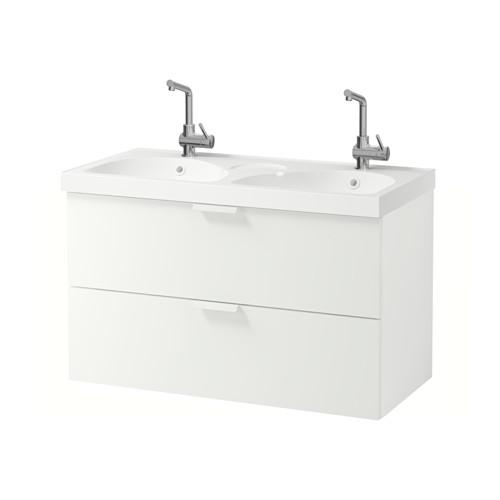 GODMORGON / EDEBOVIKEN cabinet sinks with 2 drawers - white
