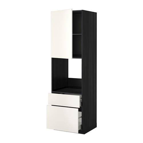 YÖNTEM / MAKSİMER Yüksek shk d / dhvk + dvr / 2frnt / 1srd / 1s kutu - ahşap siyahı, Düğün beyazı, 60x60X200 cm