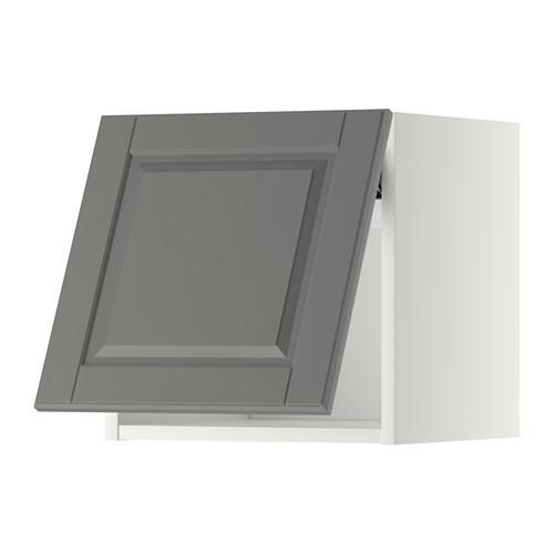 МЕТОД Горизонтальный навесной шкаф - 40x40 см, Будбин серый, белый
