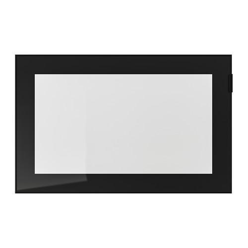 ГЛАССВИК Стеклянная дверь - черный/прозрачное стекло