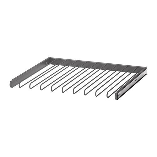 КОМПЛИМЕНТ Выдвижная вешалка для брюк - темно-серый, 75x58 см