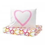 VITAMINER HJÄRTA Duvet Cover and 1 Multicolored Pillowcase