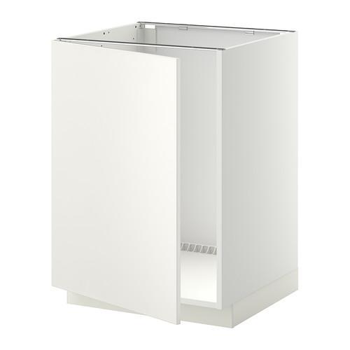 МЕТОД Напольный шкаф для раковины - Веддинге белый, белый