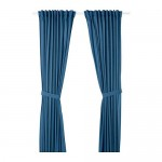 AMILDE curtains with tack, 1 pair