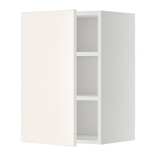 МЕТОД Шкаф навесной с полкой - 40x60 см, Веддинге белый, белый