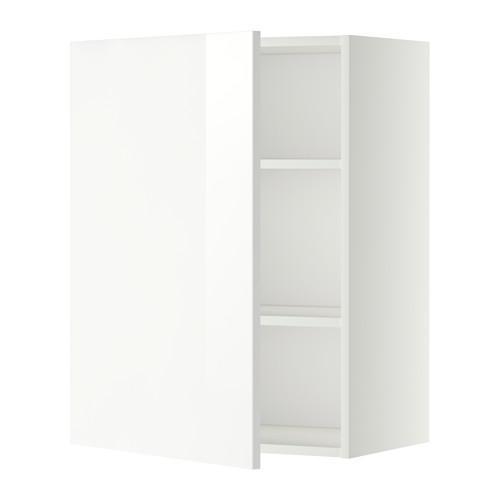 МЕТОД Шкаф навесной с полкой - 60x80 см, Рингульт глянцевый белый, белый