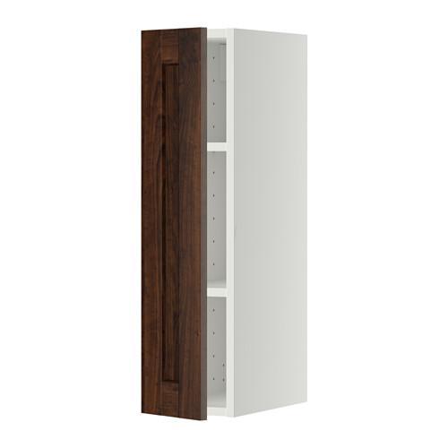 МЕТОД Шкаф навесной с полкой - 20x80 см, Эдсерум под дерево коричневый, белый