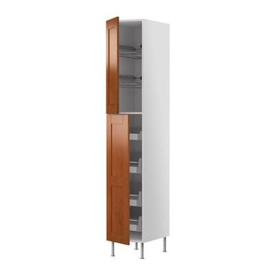 FAKTUM High cabinet with drawers / wire baskets - Edel classic brown, 60x233 see